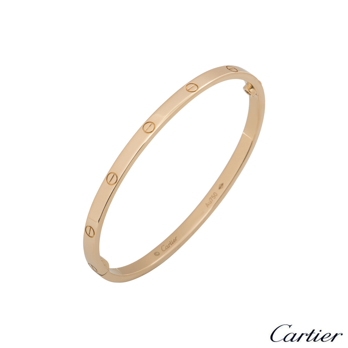 Cartier Rose Gold Plain Love Bracelet SM Size 16 B6047316